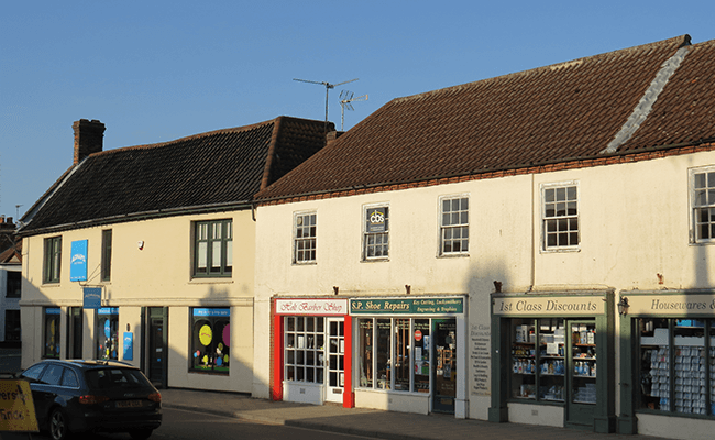 Commercial, terraced properties in Holt
