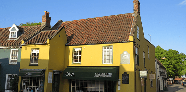 The Owl Tearooms in Holt